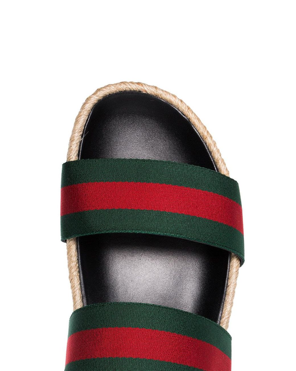 42744dca3 Lyst - Gucci Green And Red Web Sandals in Green for Men