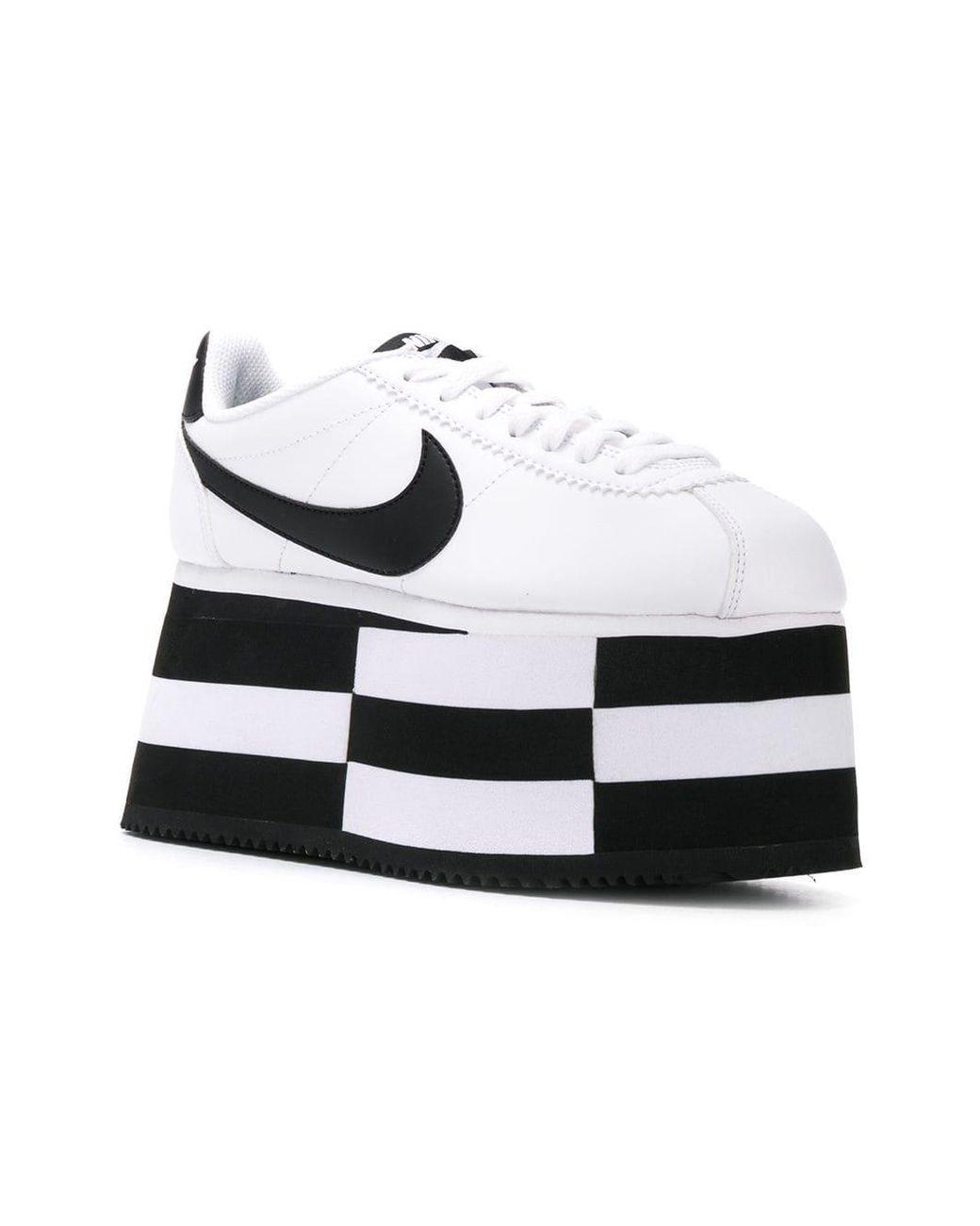 427ff035d Lyst - Comme des Garçons X Nike Platform Sneakers in White - Save 16%