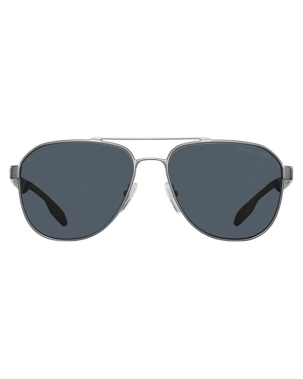 c64c4652ac7f Lyst - Prada Aviator Sunglasses in Metallic for Men