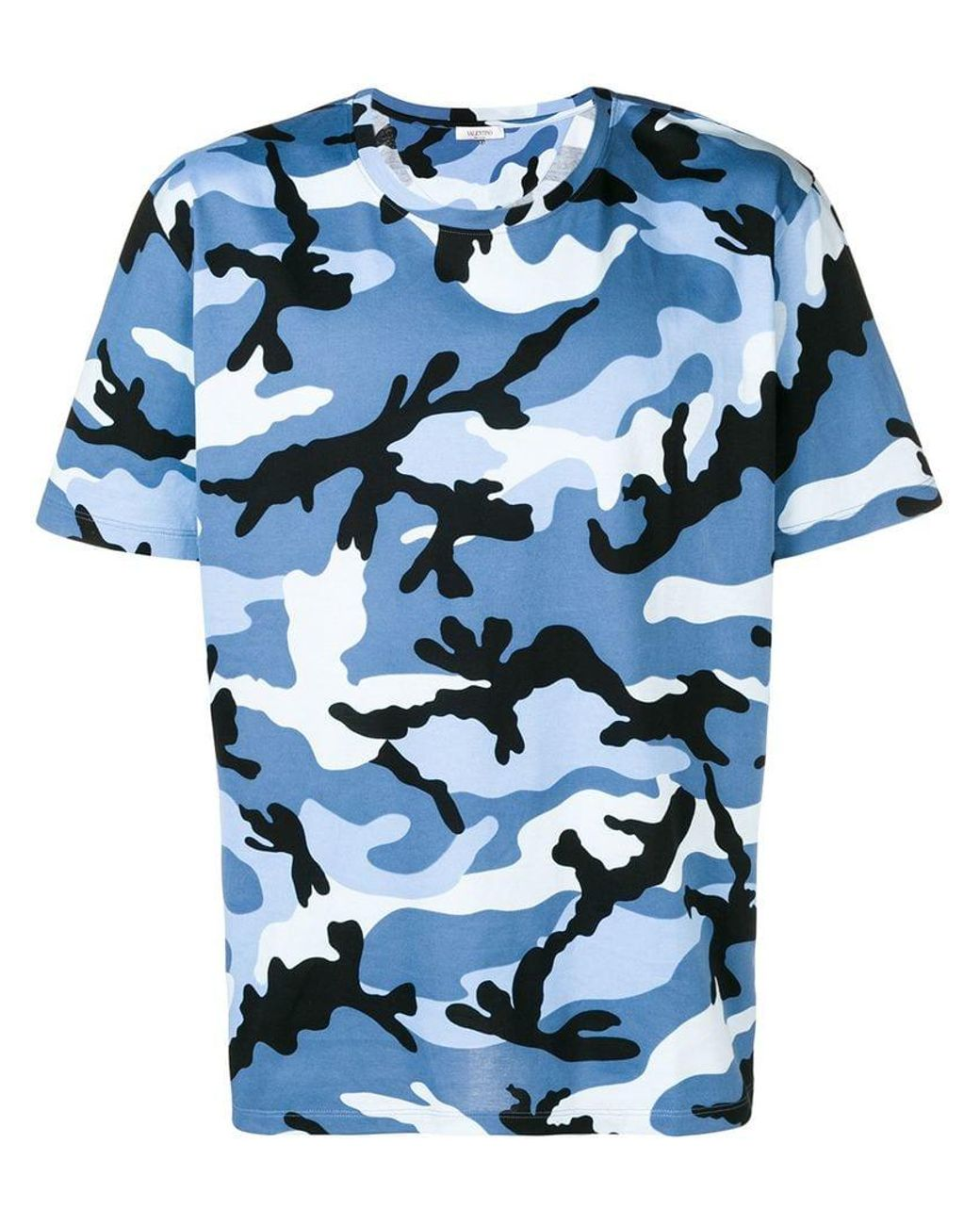 26747fa55f663 Valentino Camouflage Print T-shirt in Blue for Men - Lyst