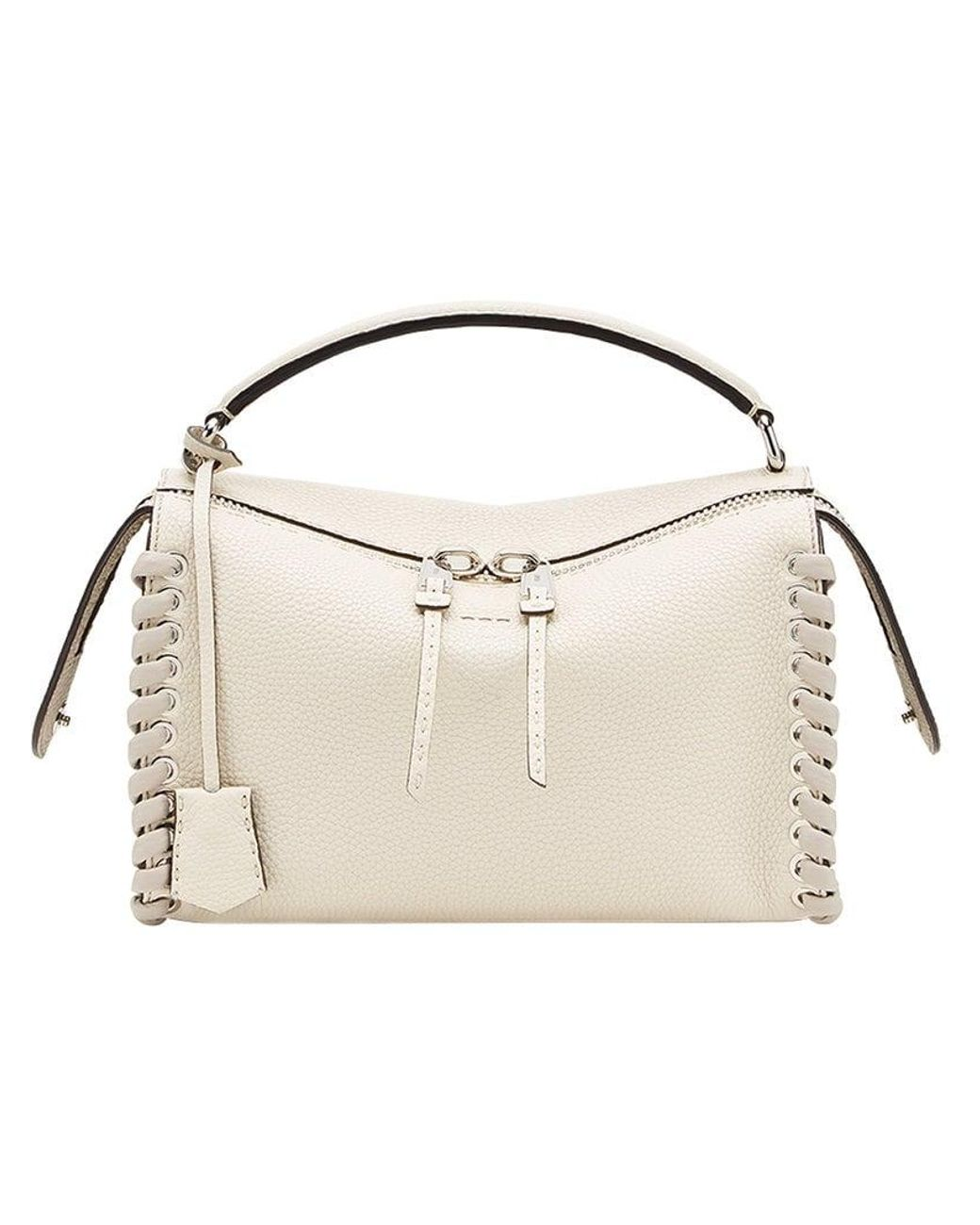 246c03ca6aa Fendi Lei Selleria Tote Bag in Natural - Lyst