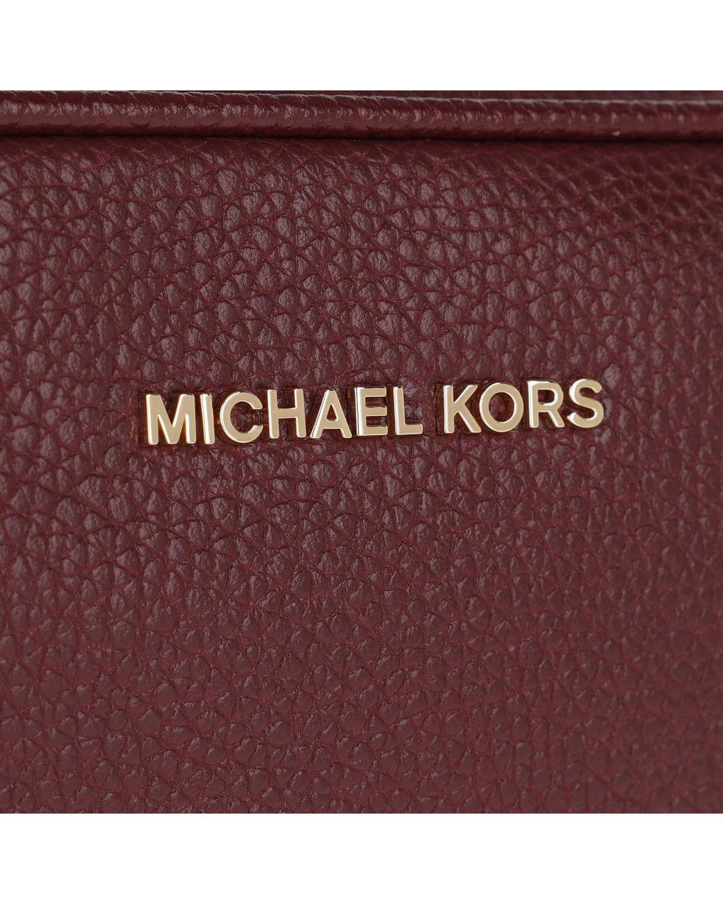 9a08b7f9fea9 Michael Kors Md Camera Bag Oxblood in Red - Lyst
