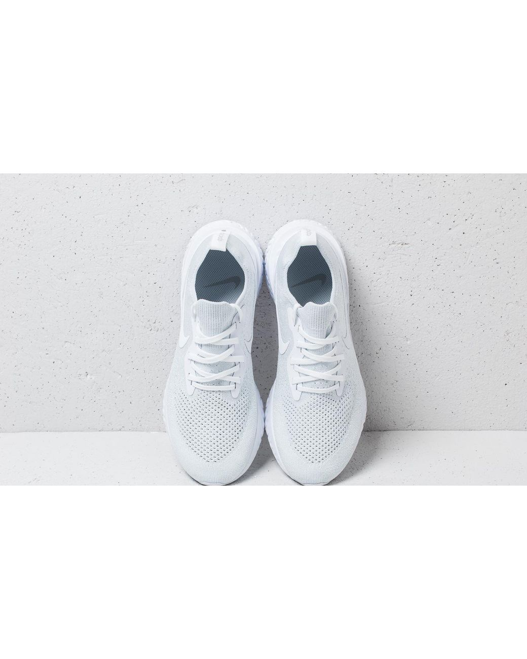 aecf1714ae1 Lyst - Nike Epic React Flyknit True White  White-pure Platinum in White for  Men
