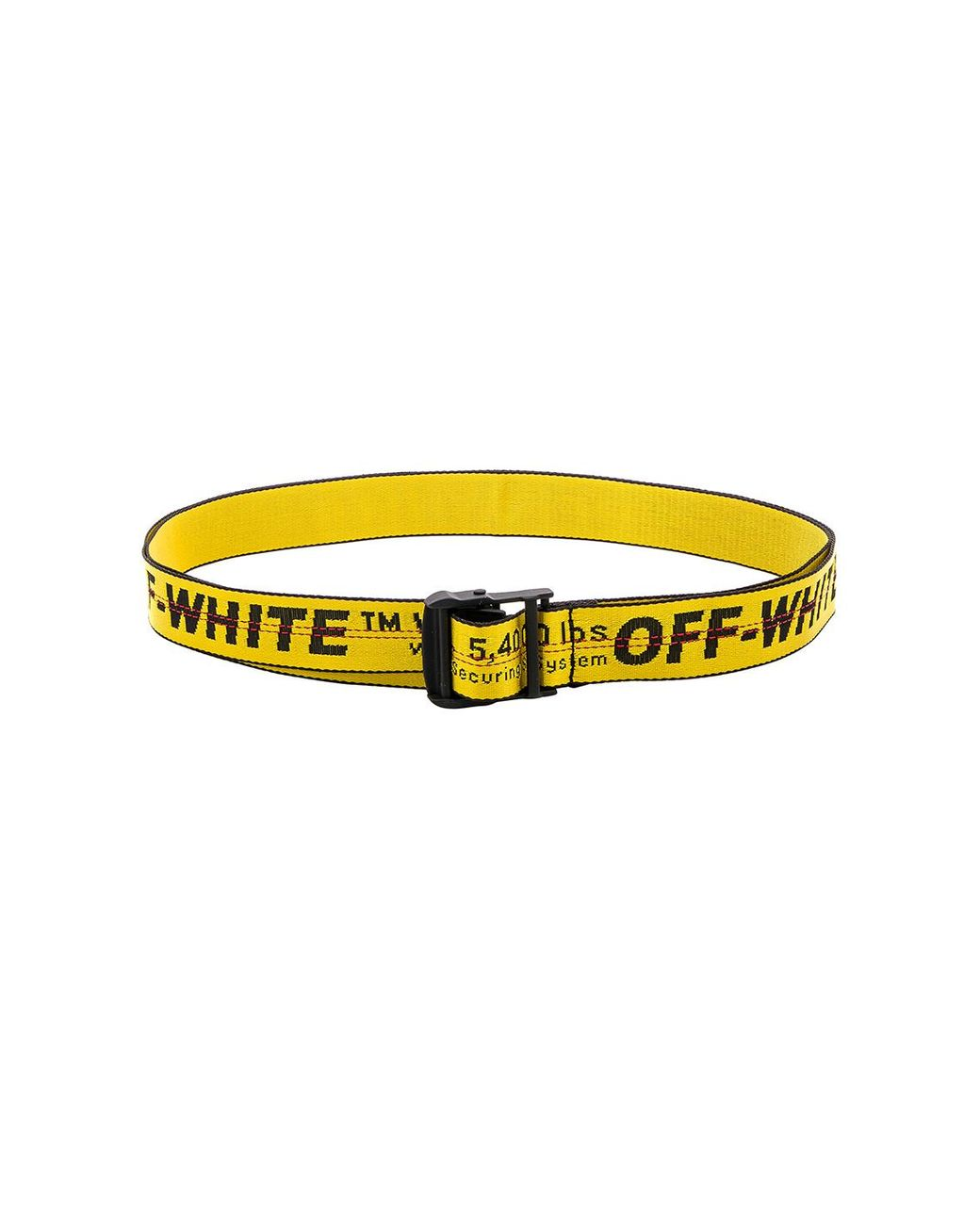 d42b47bb511f Lyst - Off-White c o Virgil Abloh Classic Industrial Belt in Yellow