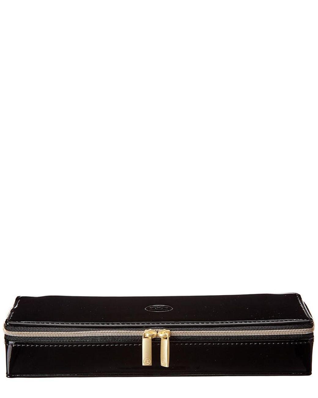 0e4d40de760328 Lyst - Chanel Black Vinyl Sublimage Cosmetic Bag in Black
