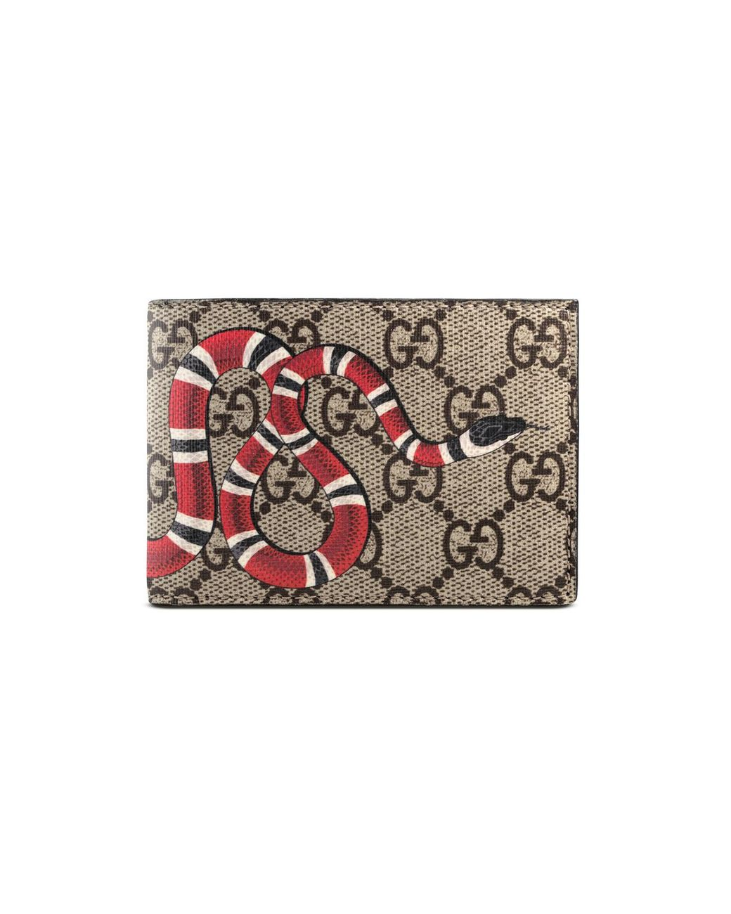 b167a07046c8 Gucci Kingsnake Print GG Supreme Wallet for Men - Save 24% - Lyst