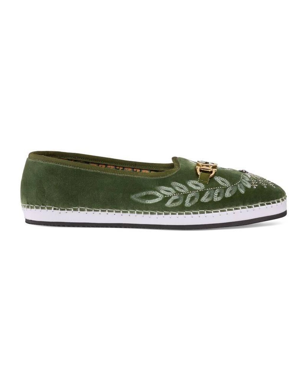 43ecf8133 Gucci Men's Velvet Loafer With Sequin Embroidery in White for Men - Lyst