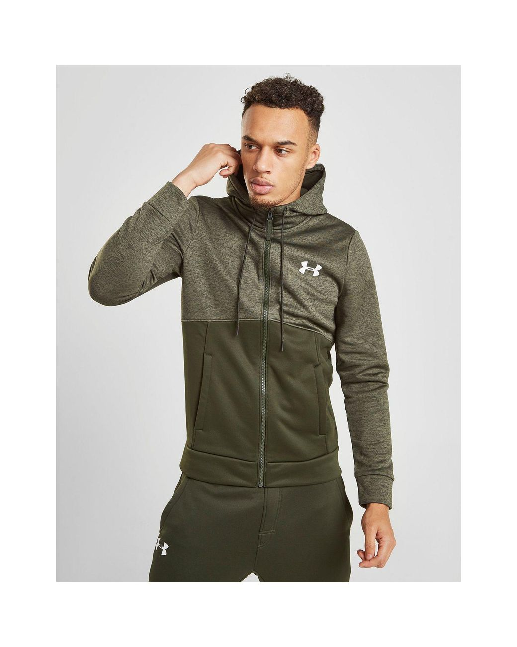 9ab1bf9c4a7 Lyst - Under Armour Fleece Full Zip Hoodie in Green for Men - Save 1%