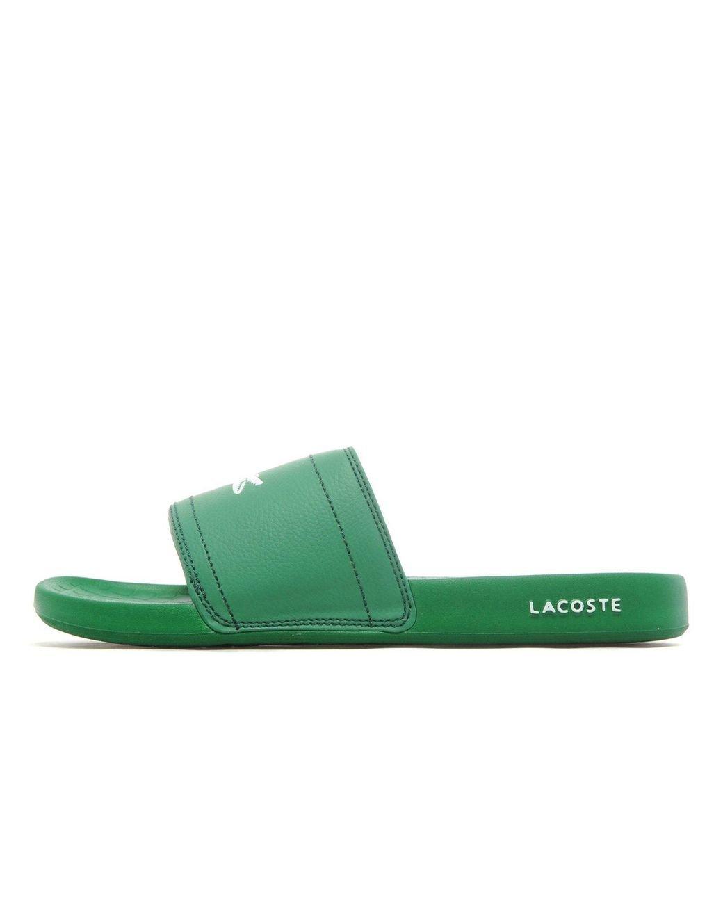 fe368de0e Lyst - Lacoste Frasier Slides in Green for Men - Save 39%