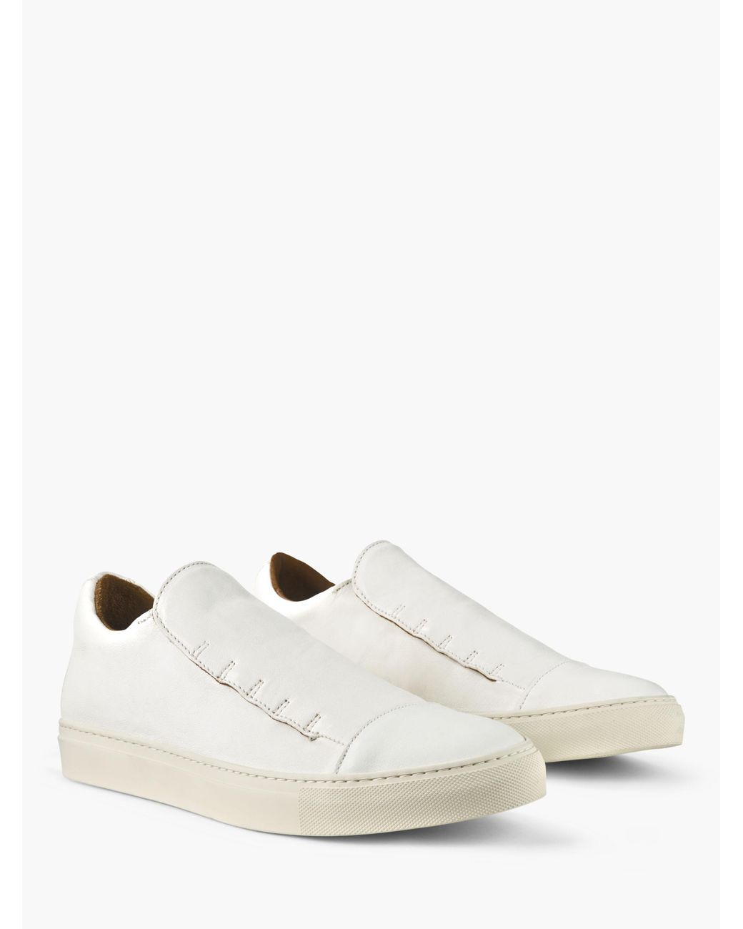 8a4f91f1a293 Lyst - John Varvatos Reed Laceless Low Top Sneaker in White for Men ...