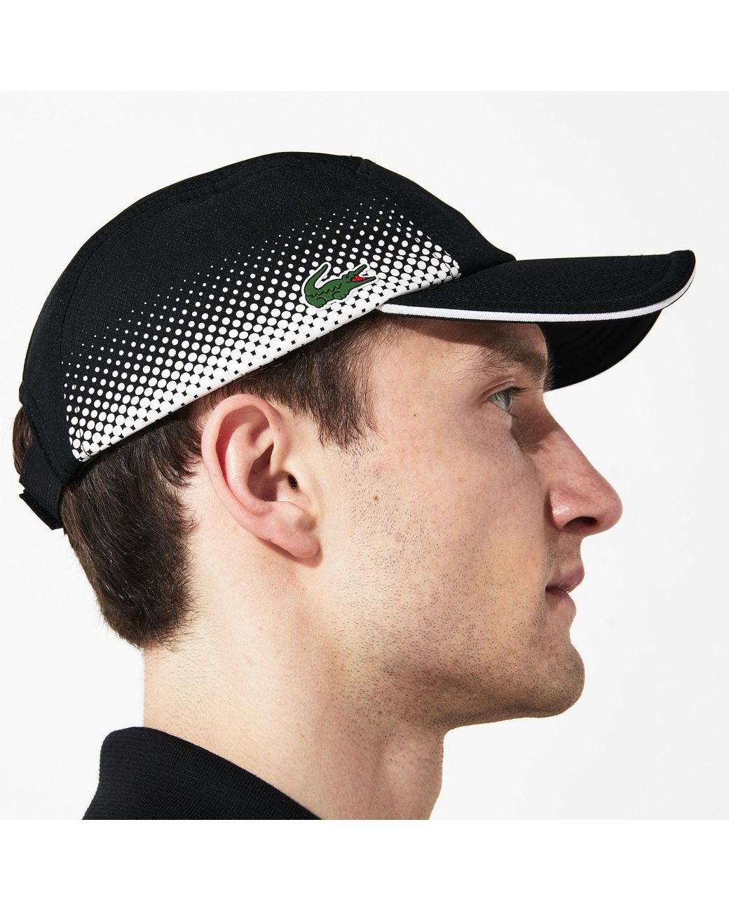 aa025872bc5 Lyst - Lacoste Sport Breathable Tennis Cap in Black for Men