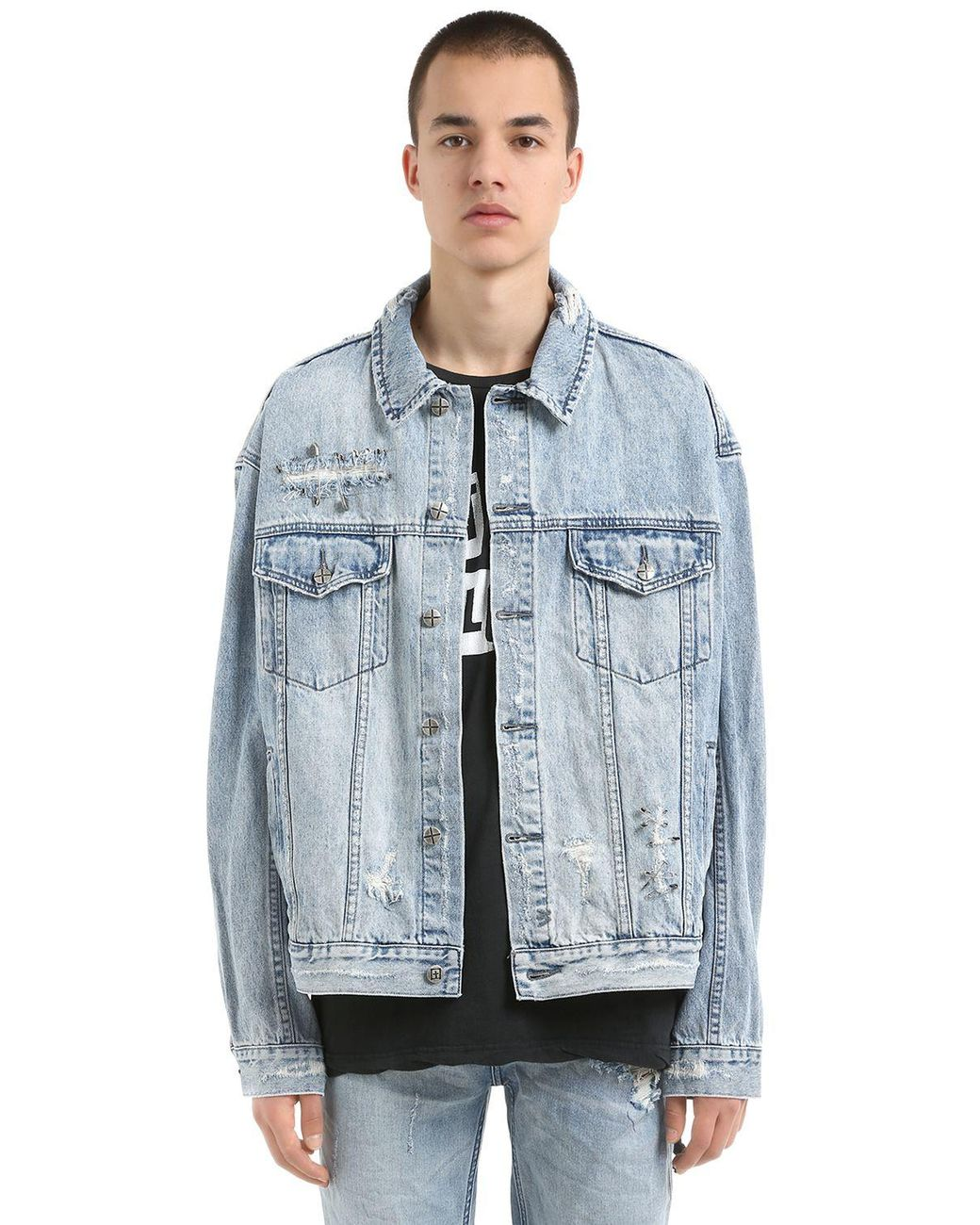 95bd0d6cd7 Ksubi Oh G Punk Pin Cotton Denim Jacket in Blue for Men - Lyst