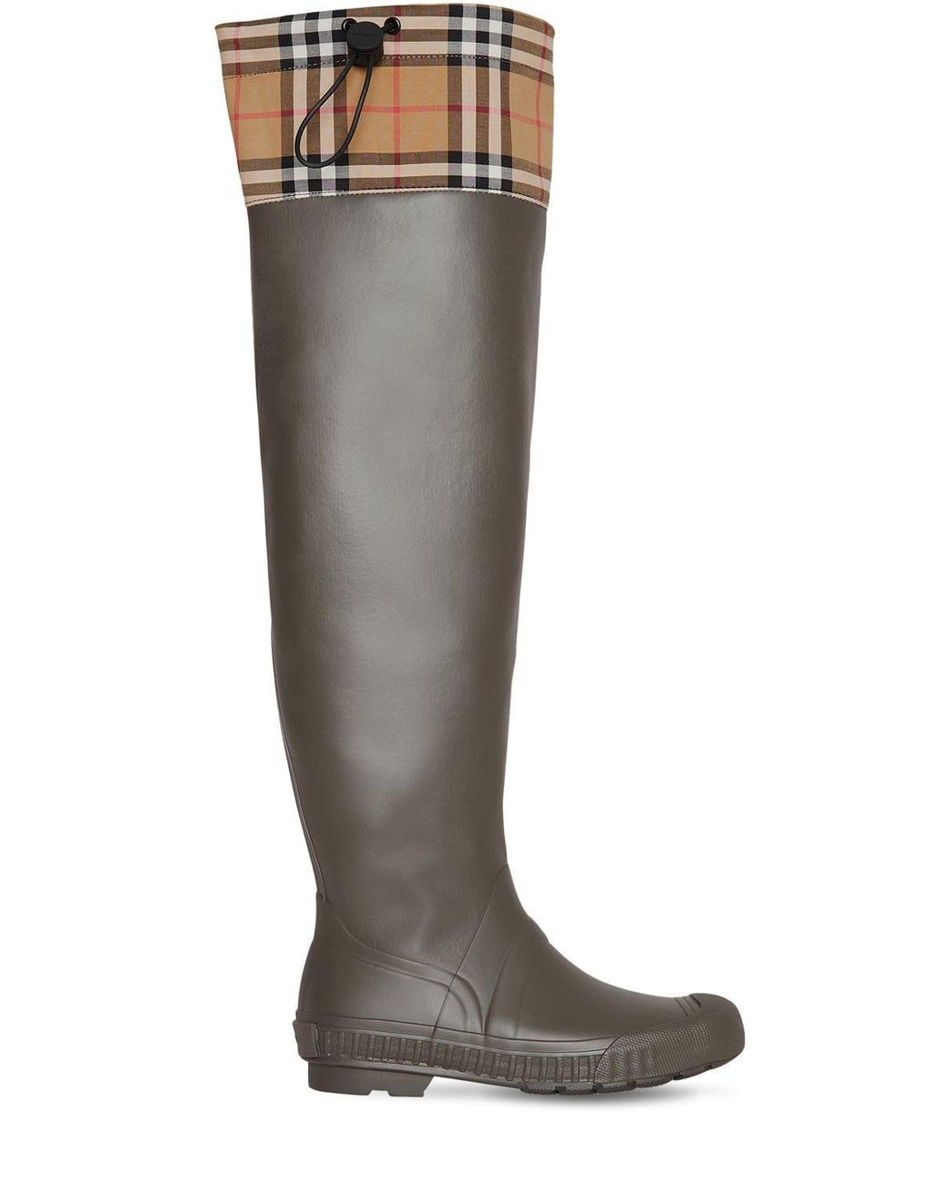 b5103d033dfe Burberry 20mm Freddy Rubber & Check Boots in Green - Save 49% - Lyst