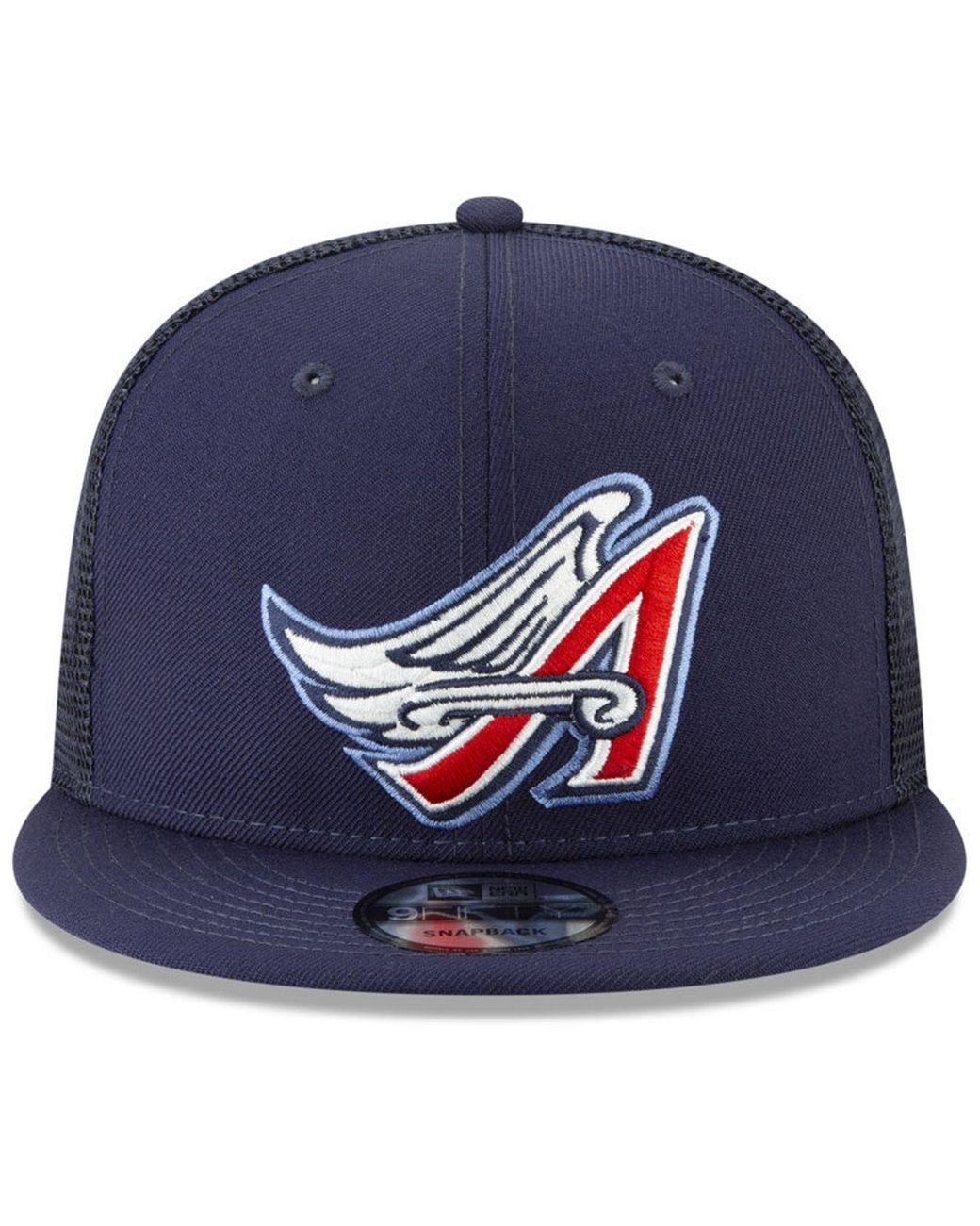 los angeles 2d31a 6b1dc KTZ Los Angeles Angels Coop All Day Mesh Back 9fifty Snapback Cap in Blue  for Men - Lyst