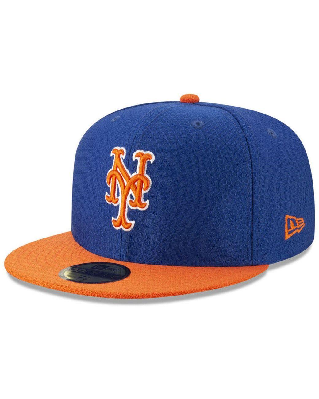 online retailer c1156 b3226 KTZ. Men s Blue New York Mets Batting Practice 59fifty-fitted Cap