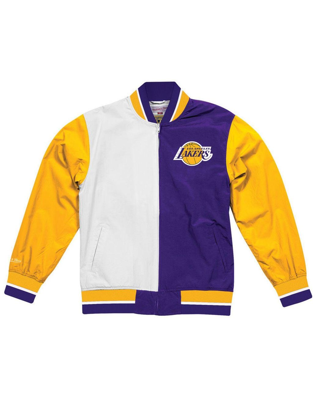2cc4a47fe4a Mitchell & Ness Los Angeles Lakers History Warm Up Jacket in Purple for Men  - Lyst
