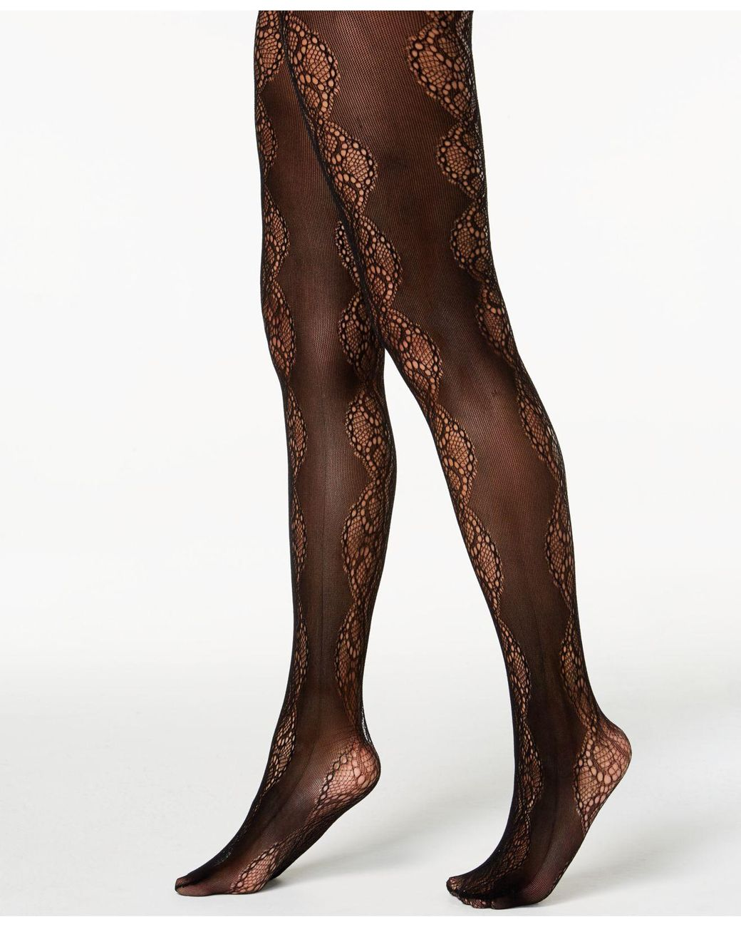 f4320ae666549 Lyst - INC International Concepts I.n.c. Lace Pattern Tights, Created For  Macy's in Black