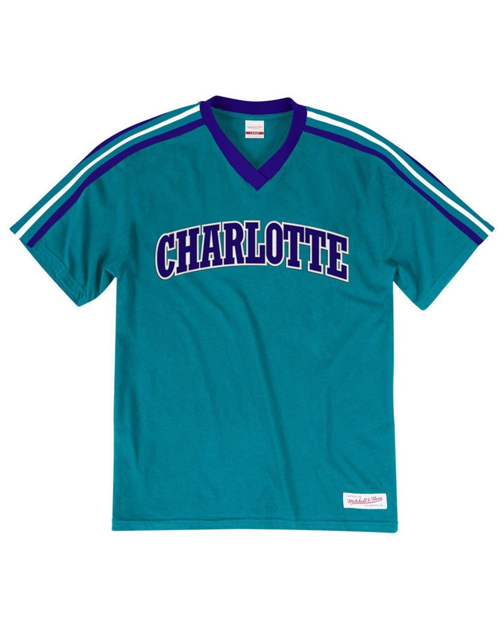 ddf5b4cdc Lyst - Mitchell   Ness Charlotte Hornets Overtime Win V-neck T-shirt in  Blue for Men