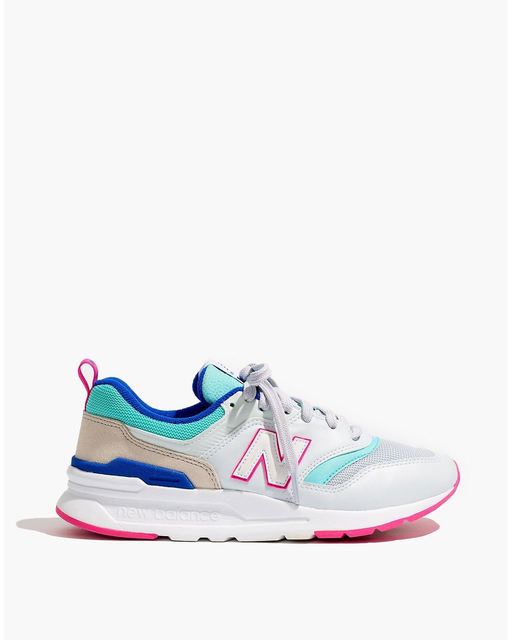 d7fe26ee87712 Madewell New Balance® 997h Classic Sneakers In Leather And Mesh in White -  Lyst