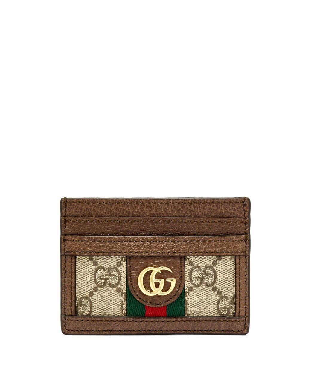 0084c3ec2cc Gucci. Women s Ophidia Textured Leather-trimmed Printed Coated-canvas  Cardholder