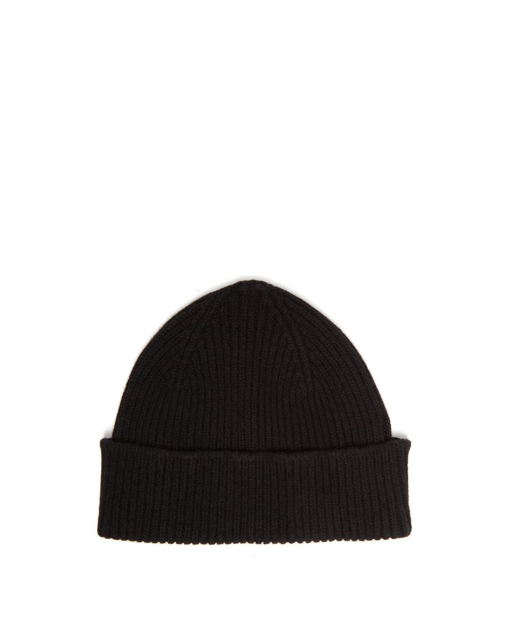 8af6cb1d6 Paul Smith Ribbed Cashmere Blend Beanie Hat in Black for Men - Save ...