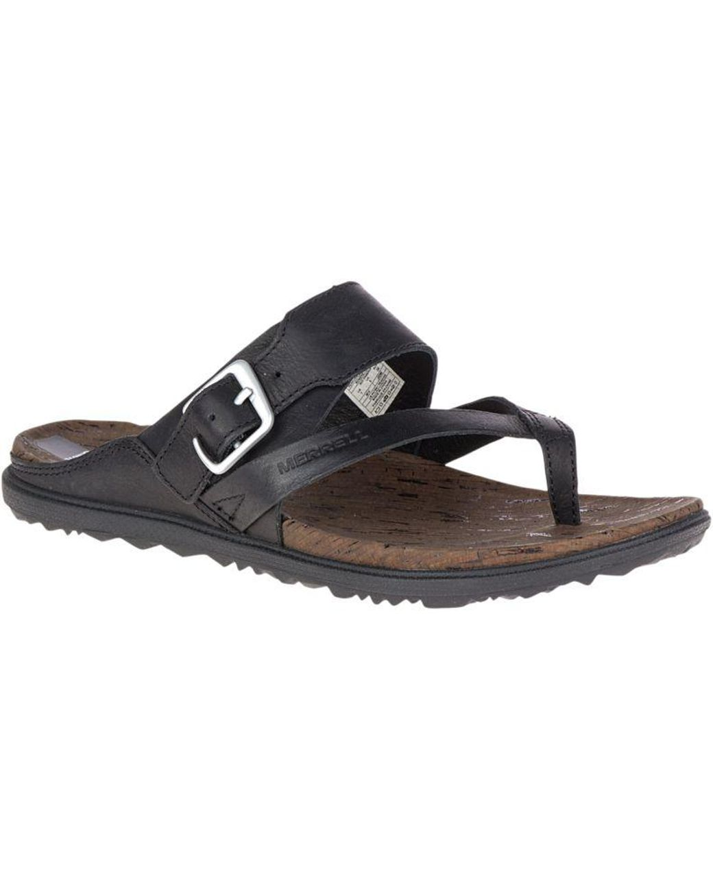 f38a54e1e92 Lyst - Merrell Around Town Thong Buckle in Black - Save 46%
