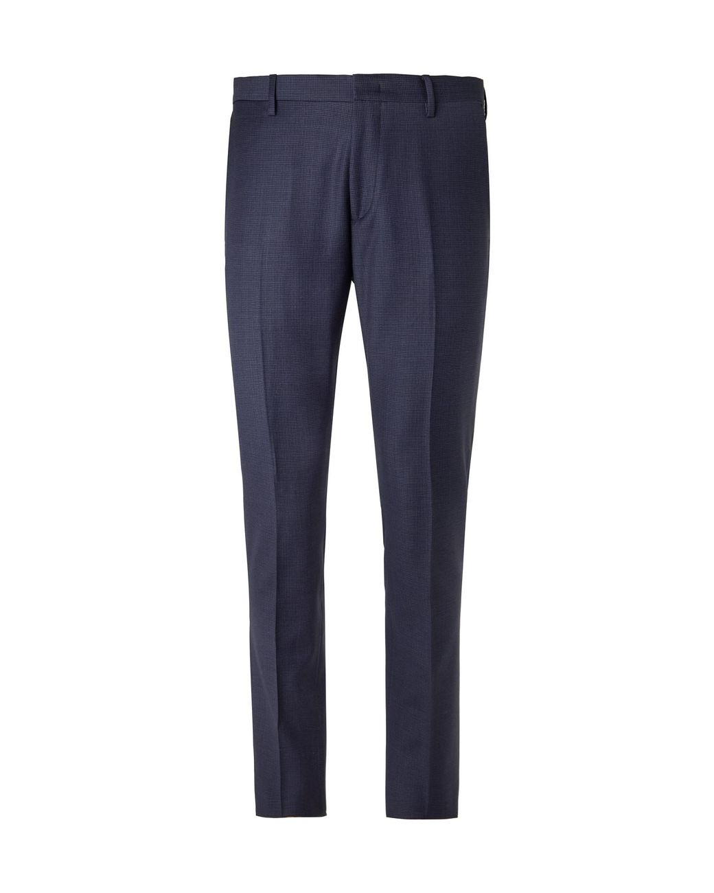 9af131df Paul Smith Navy Soho Slim-fit Puppytooth Wool Suit Trousers in Blue for Men  - Lyst