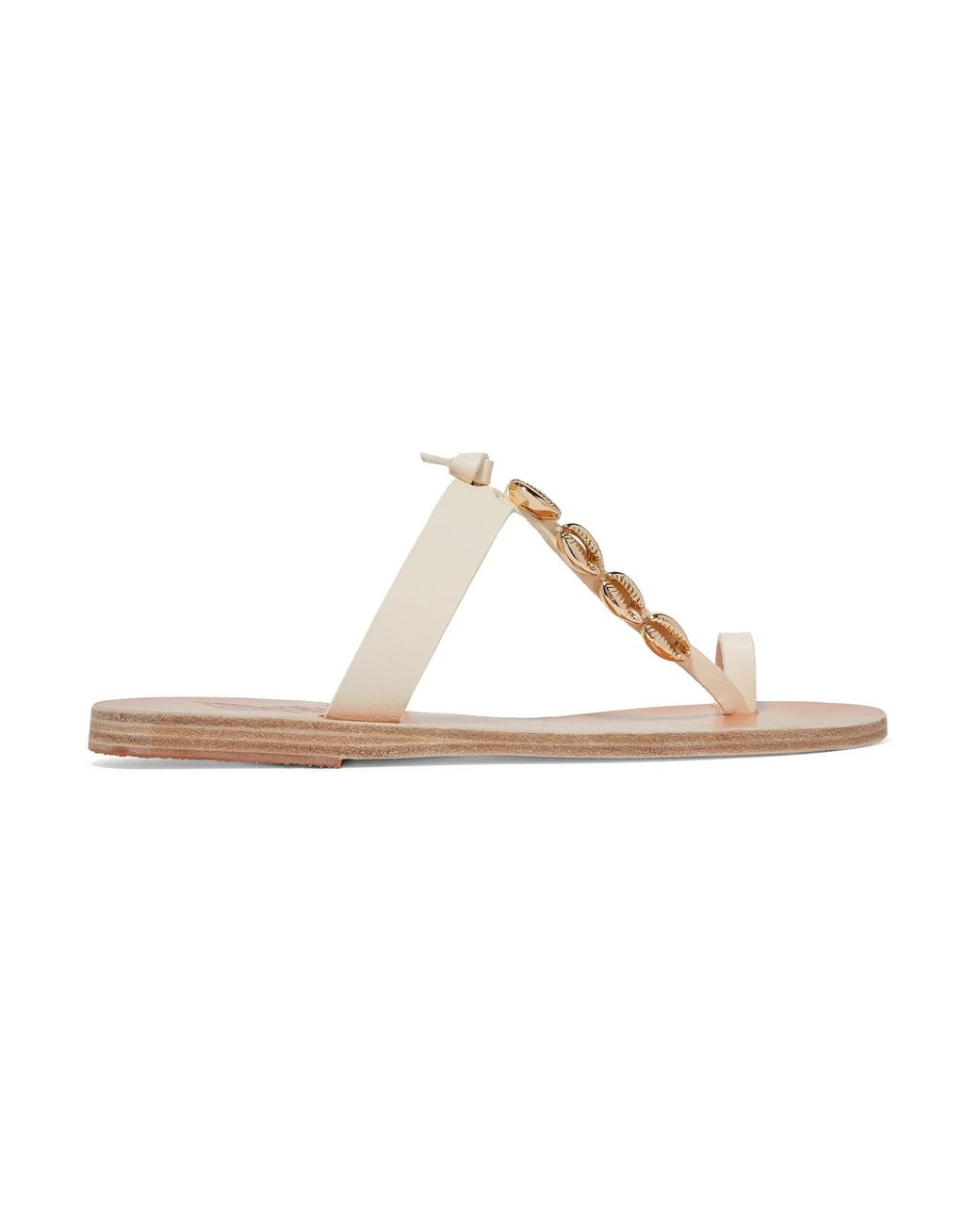 bc376dabb Lyst - Ancient Greek Sandals Iris Embellished Leather Sandals in White