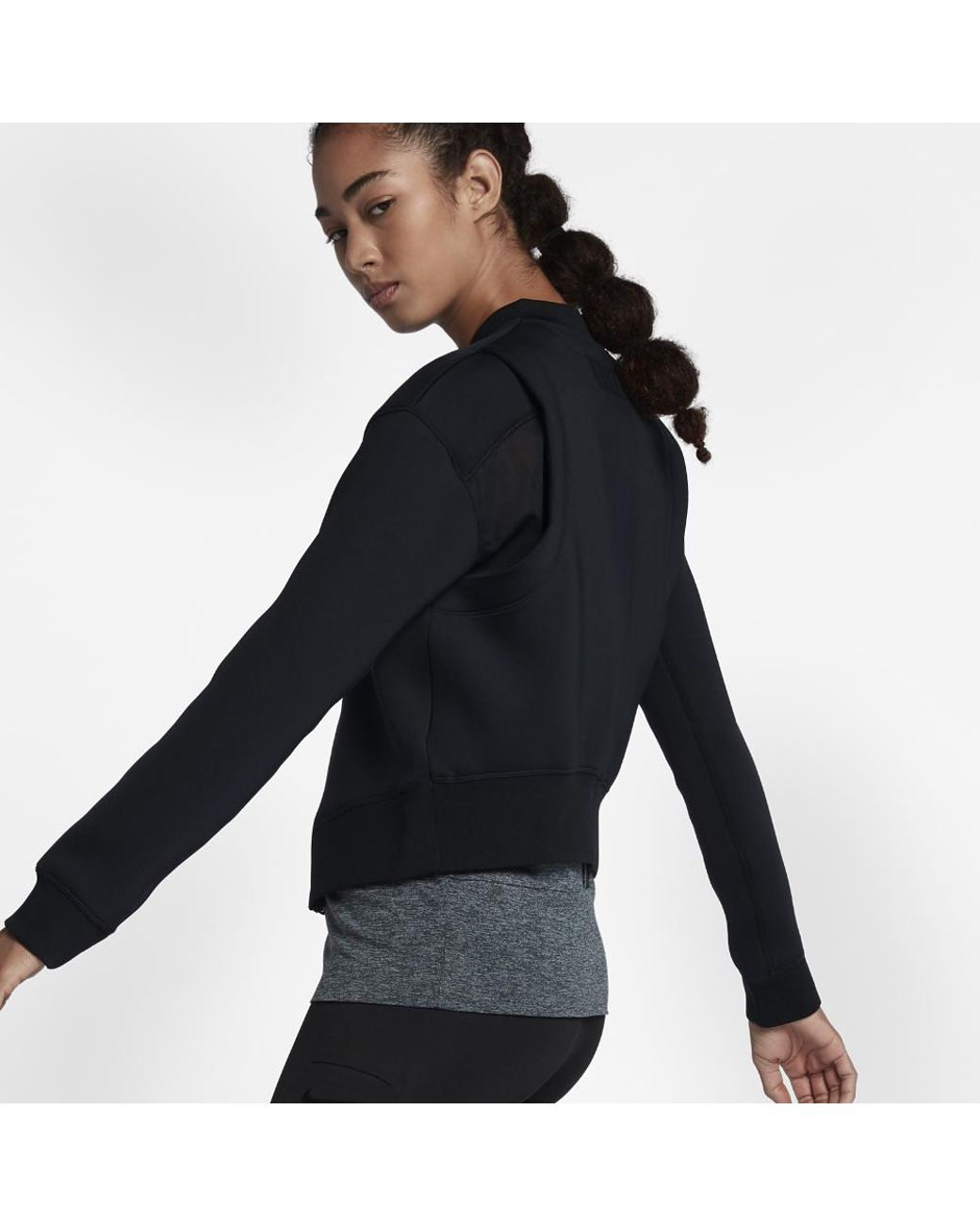 08ac78ade04b Long-Touch to Zoom. Nike - Black Therma Sphere Max Women s Training Jacket  - Lyst