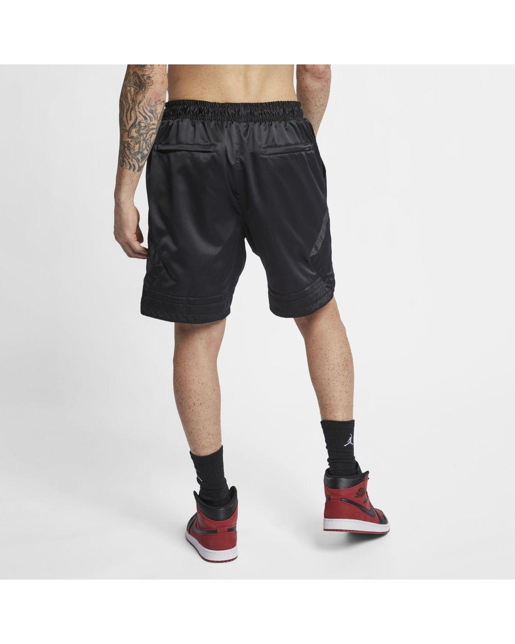 018afa1ffe9b44 Nike Jordan Satin Diamond Shorts in Black for Men - Lyst