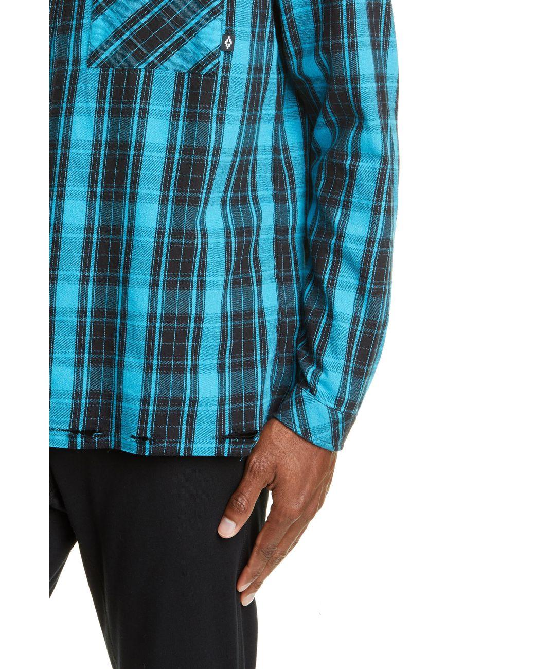 358d8a3e5322 Marcelo Burlon County Check Plaid Button-up Flannel Shirt in Blue for Men -  Lyst