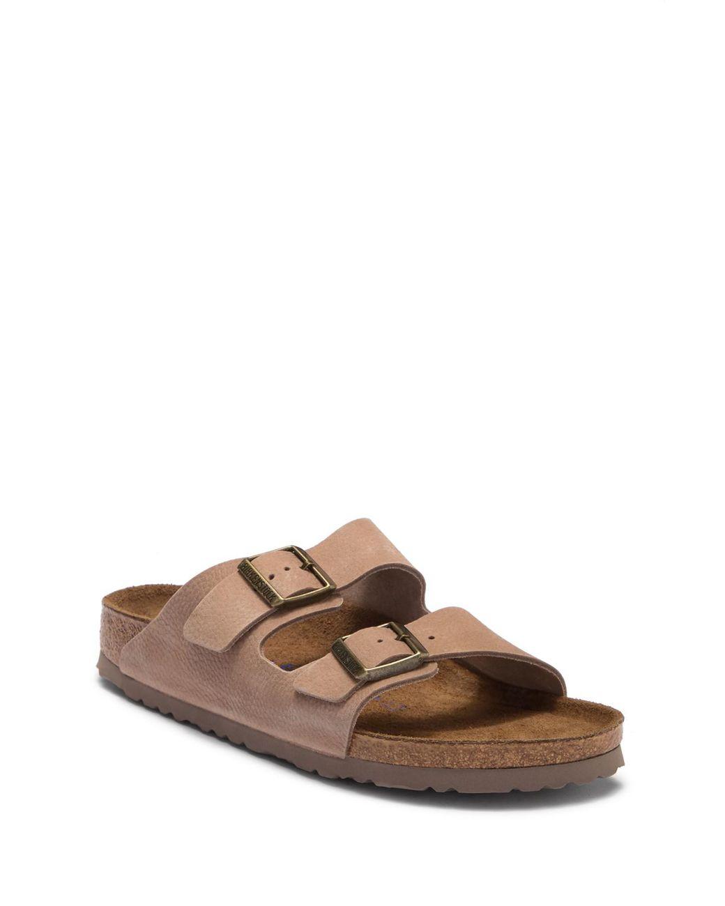 Nubuck Slip Lyst Soft Arizona Footbed Sandal Birkenstock On 5R3jq4AL