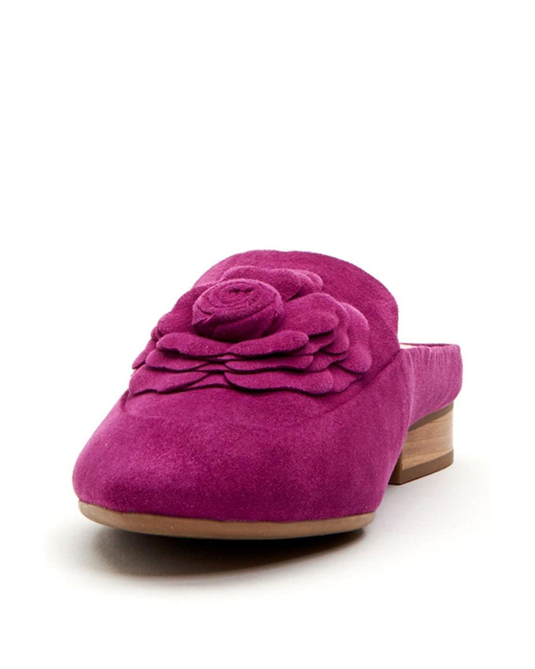 60c759f8e28 Lyst - Taryn Rose Blythe Rose Detail Mule in Purple
