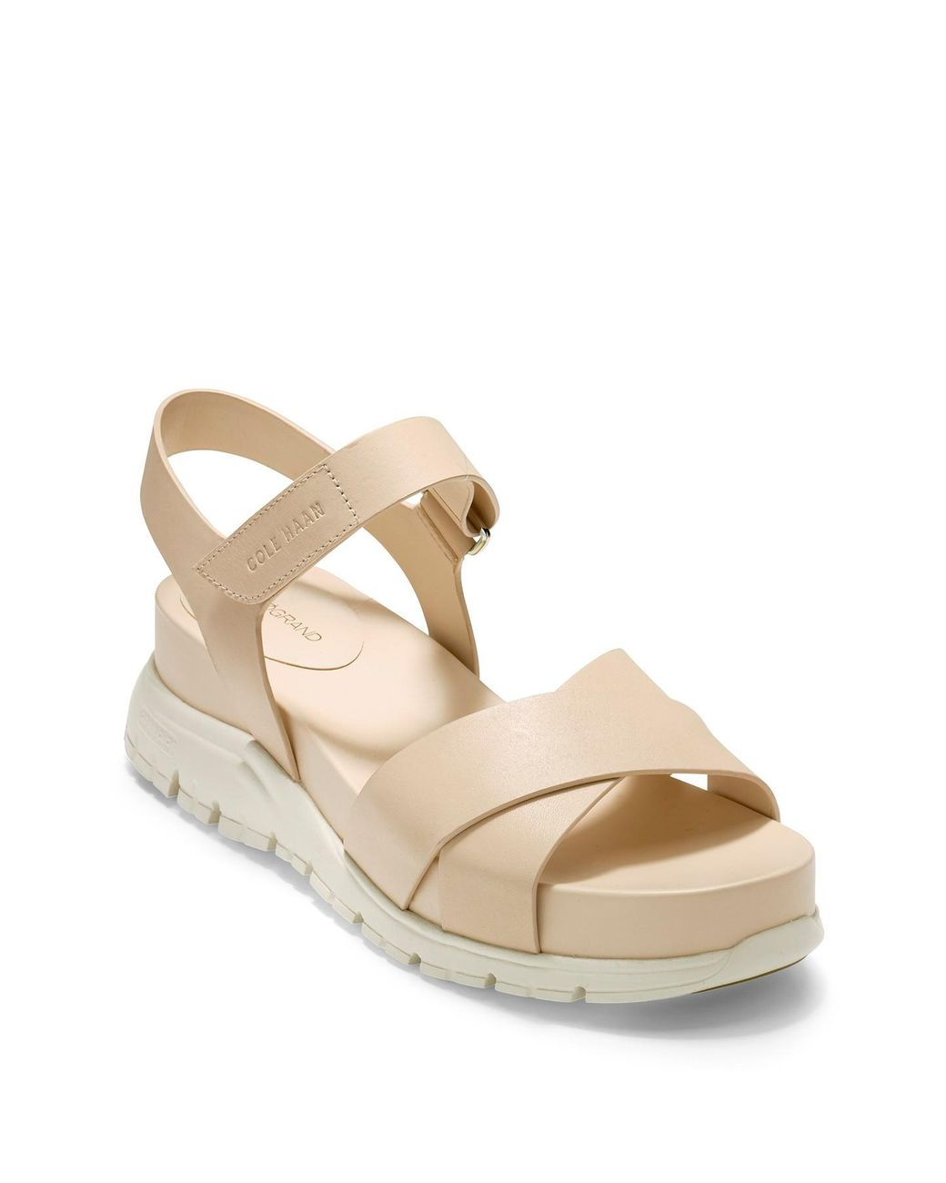 e35d81c66 Lyst - Cole Haan Zerogrand Platform Sandal in Natural