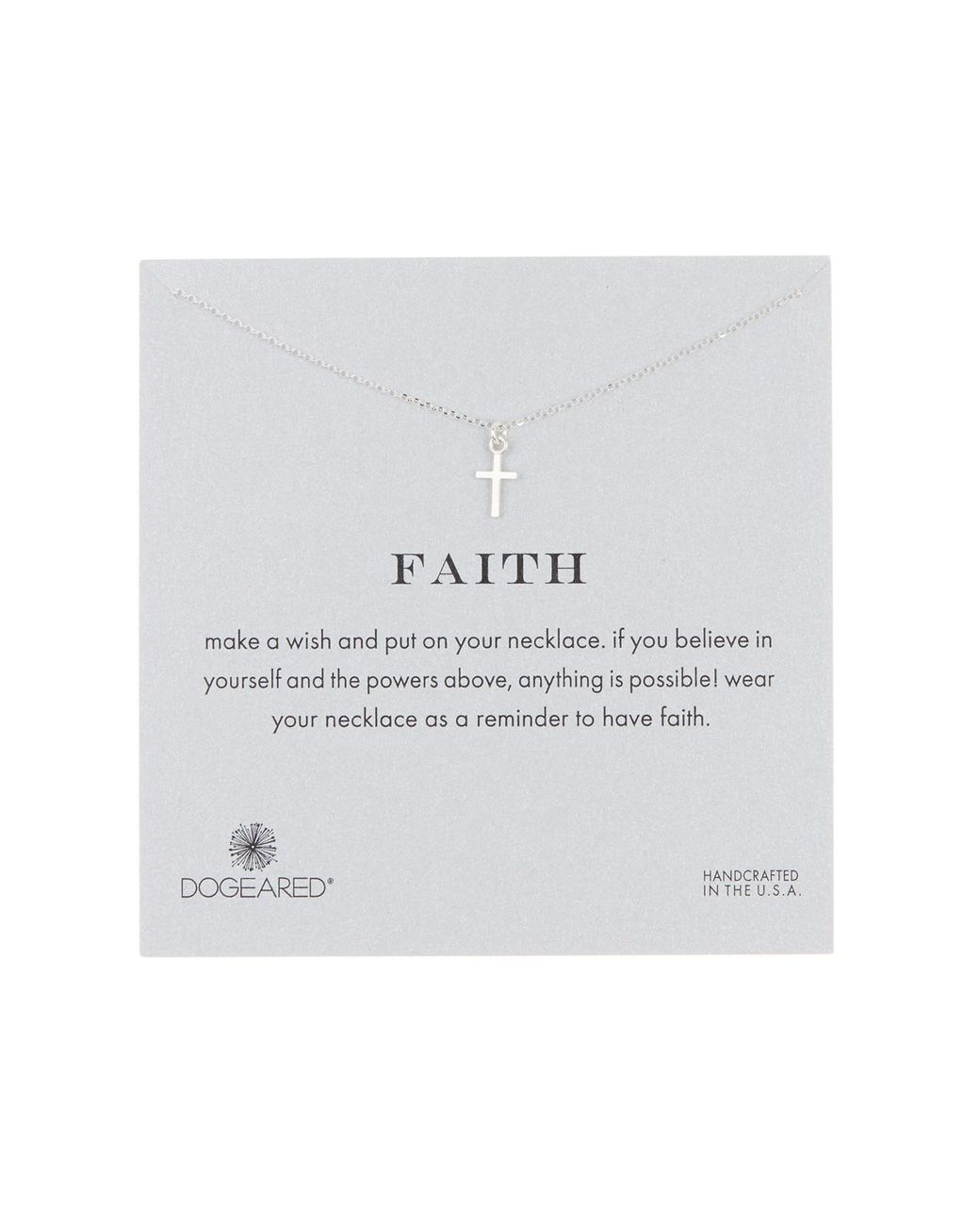 55e1904a1 Dogeared Sterling Silver Faith Cross Pendant Necklace in Metallic - Lyst