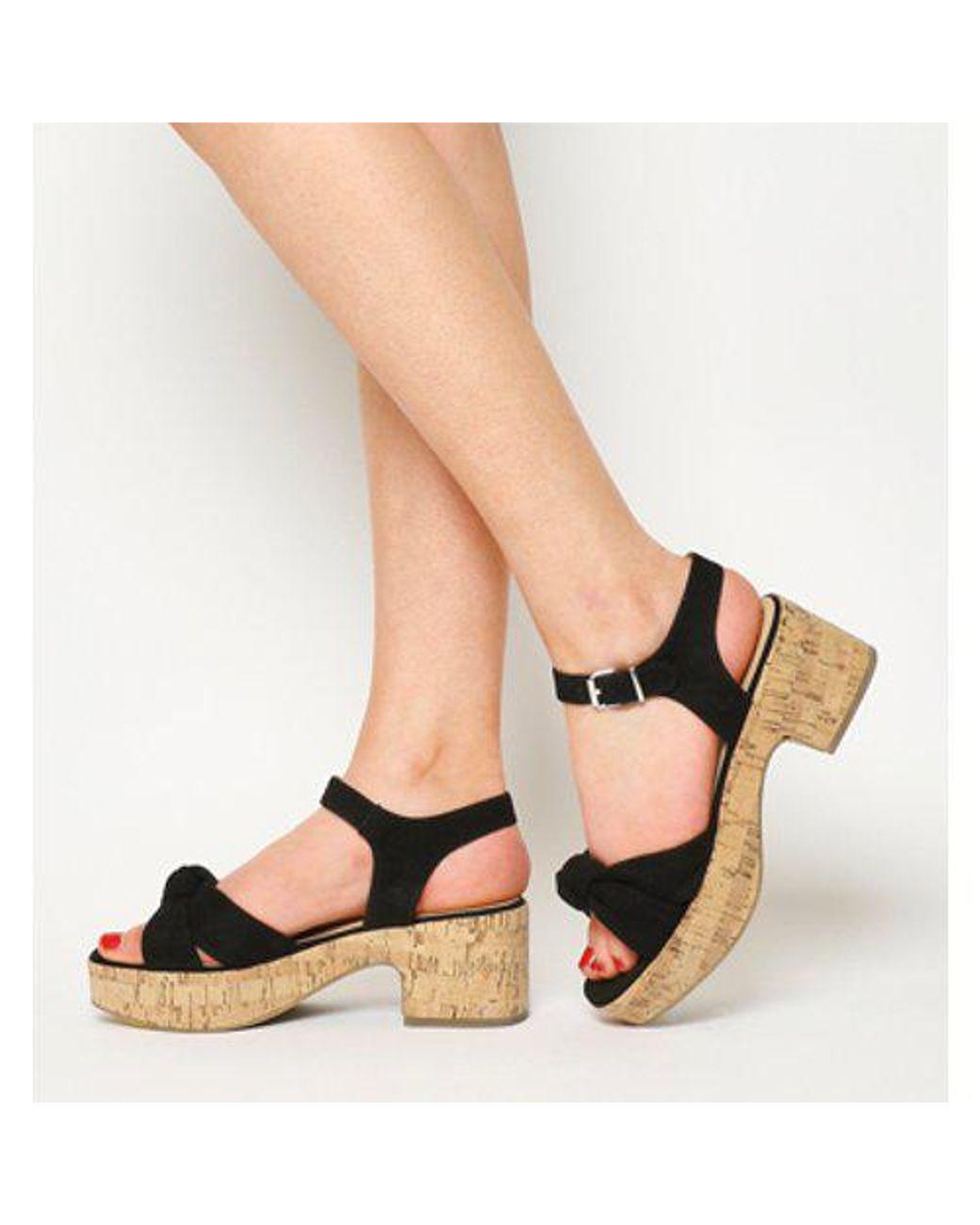 d3aea7d68401 Lyst - Office Magnolia Demi Flatform Sandal in Black