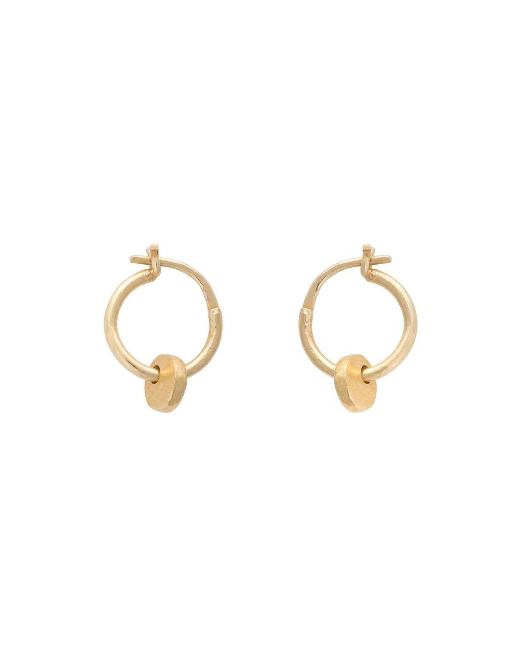 82d020d23 Oliver Bonas Elsa Small Circle Drop Hoop Earrings in Metallic - Lyst