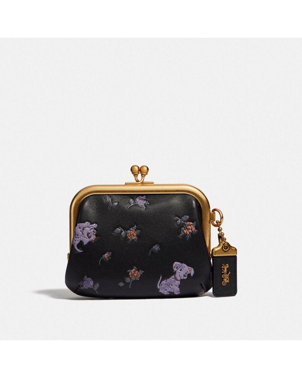 83b5f4e5b3d1 Lyst - COACH Disney X Kisslock Frame Pouch With Disney Motif in Black