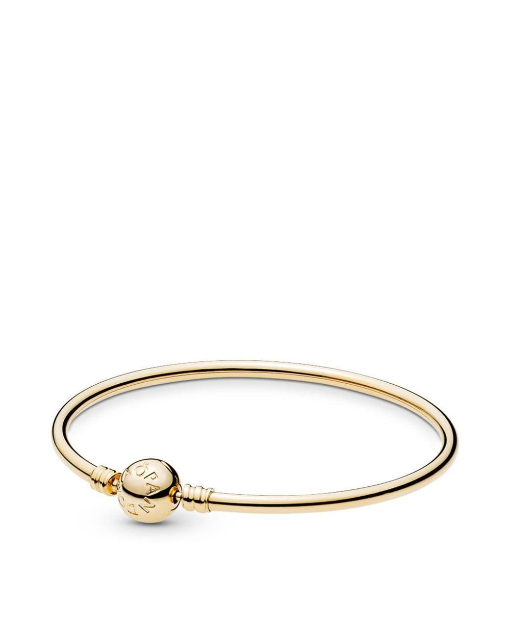 6a07eaaa8 PANDORA 14k Gold Bangle With Signature Clasp in Metallic - Save 6% - Lyst