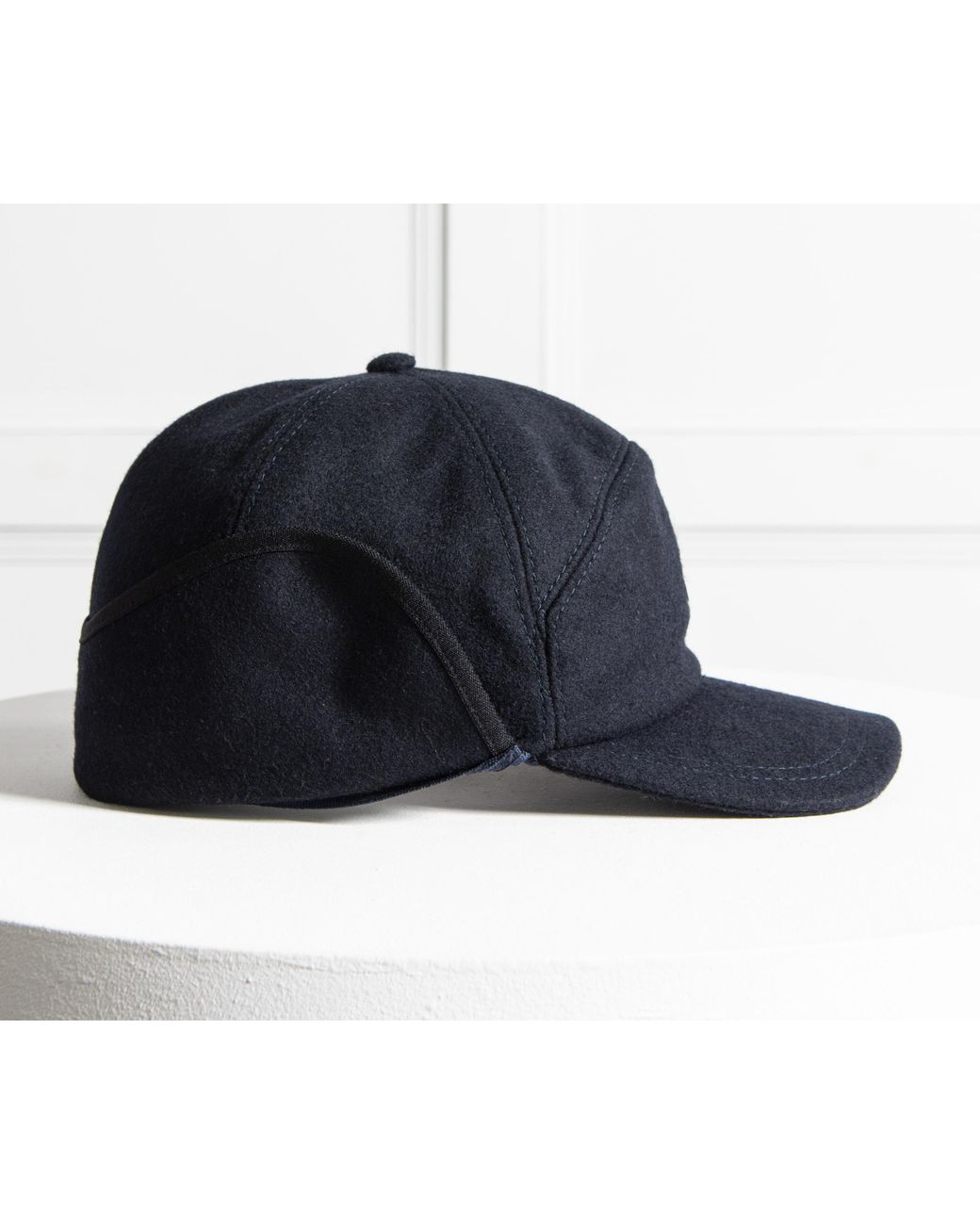 43ecd47be Paul & Shark Flannel Cap With Neck Flap Navy in Blue for Men - Lyst
