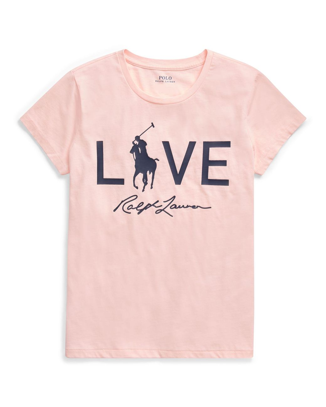 607461443b9c01 Polo Ralph Lauren Pink Pony Love Graphic T-shirt in Pink - Lyst