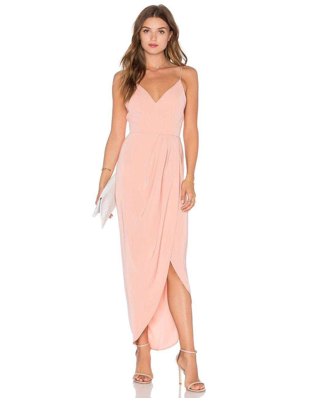 25003db84230 Shona Joy Cocktail Draped Dress in Pink - Lyst