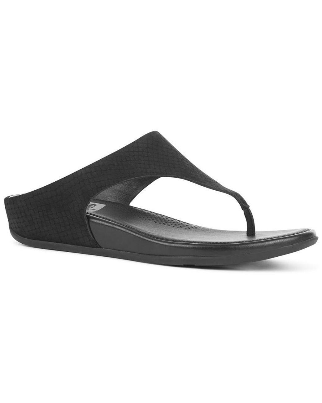 7a7d67b82 Lyst - Fitflop Banda Toe Snake Thong Sandal in Black