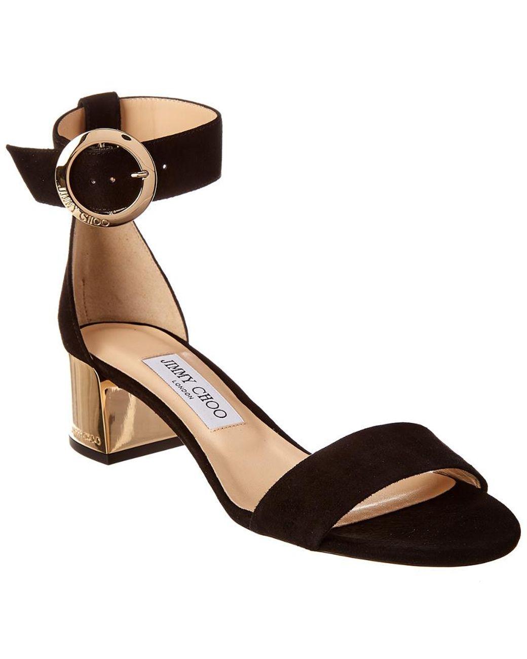 5ef9728a6055 Lyst - Jimmy Choo Jaimie 40 Block Heel Suede Sandals - Save 21%