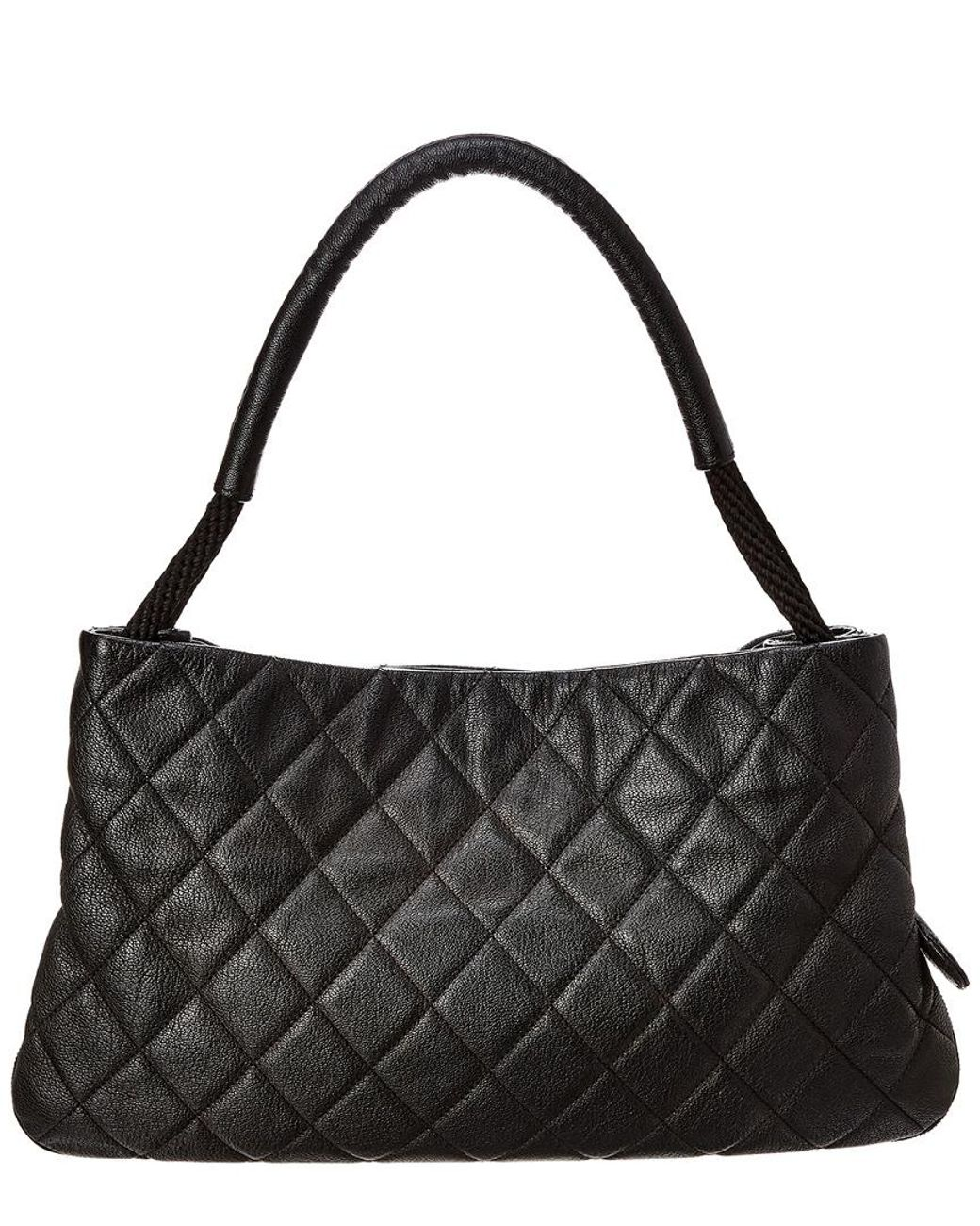 d8ed3ecacaeac7 Lyst - Chanel Black Quilted Soft Caviar Leather Shoulder Bag in Black