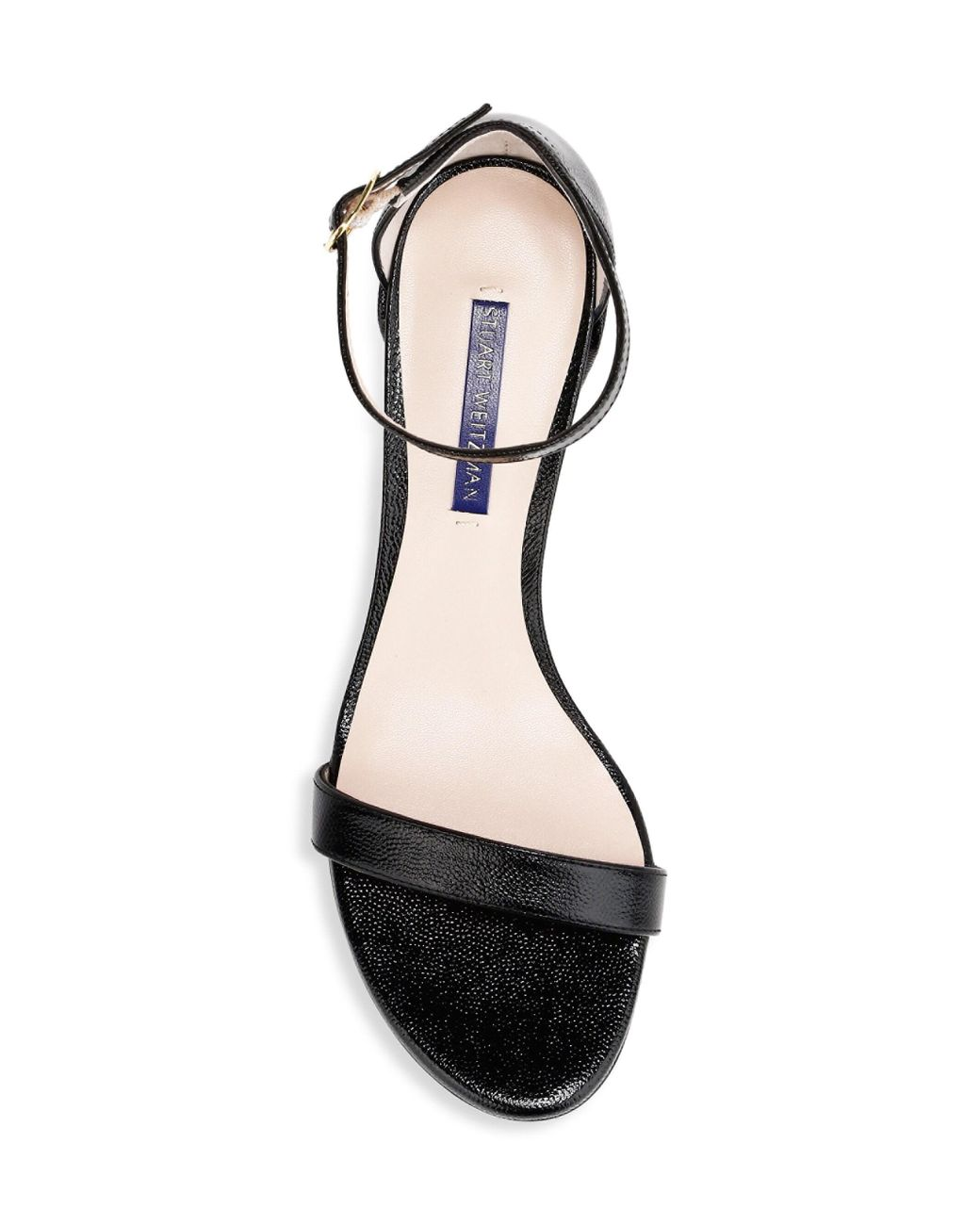 Stuart Simple Leather Lyst Weitzman Black Sandals 7IbY6fgyv