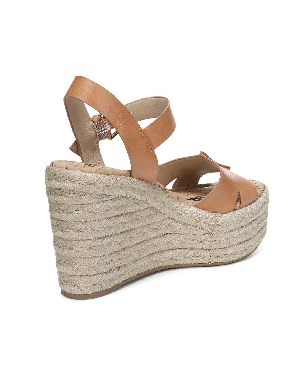 ef150e61d606 Lyst - Sam Edelman Women s Maura Espadrille Wedge Sandals in Brown