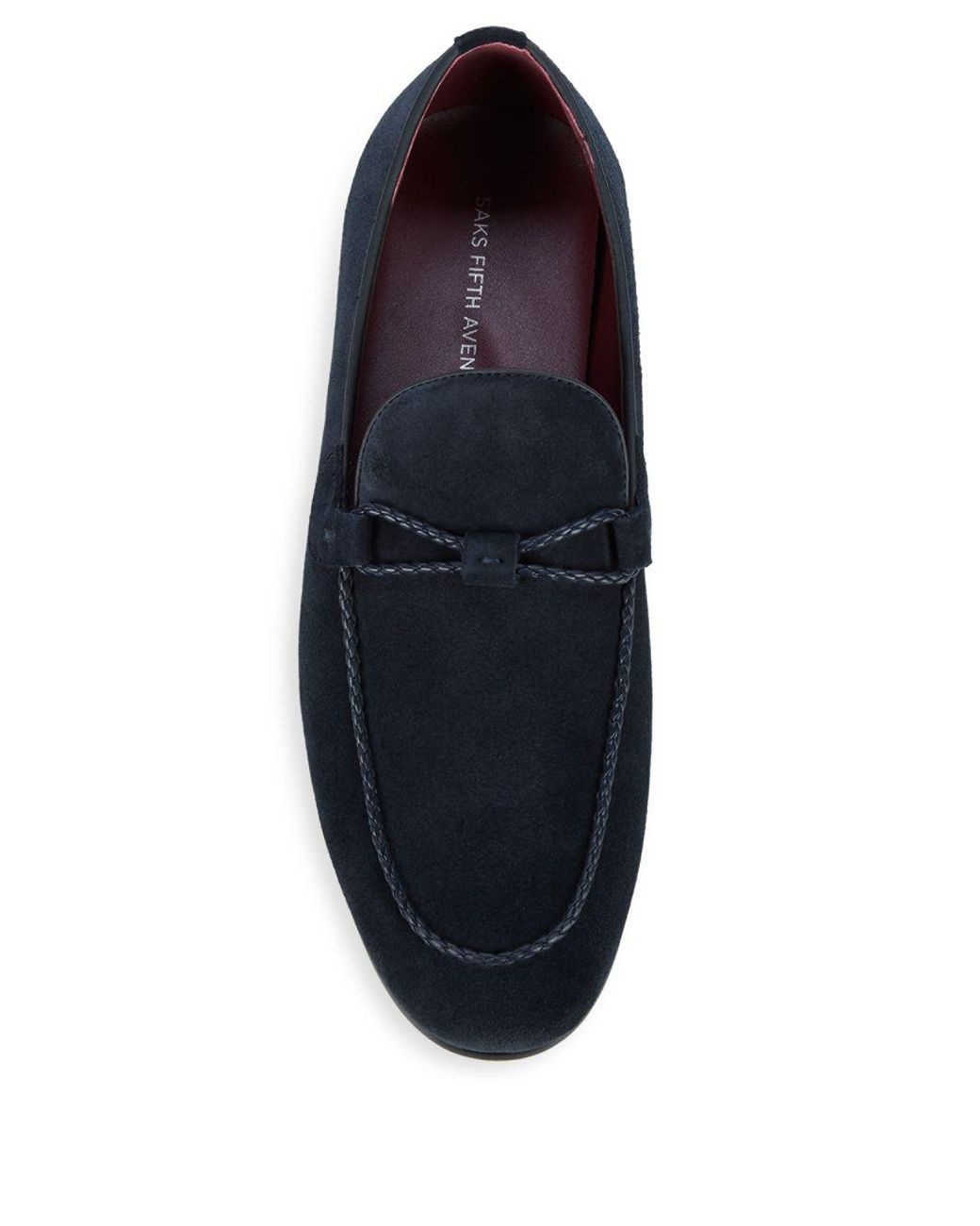 6a7a9003d73 Lyst - Saks Fifth Avenue Emidio Suede Loafers in Blue for Men