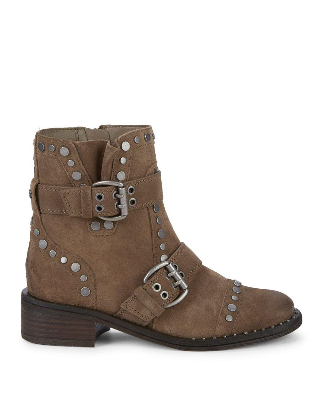 8d9d1dc83 Lyst - Sam Edelman Drea Studded Suede Booties in Brown - Save 61%