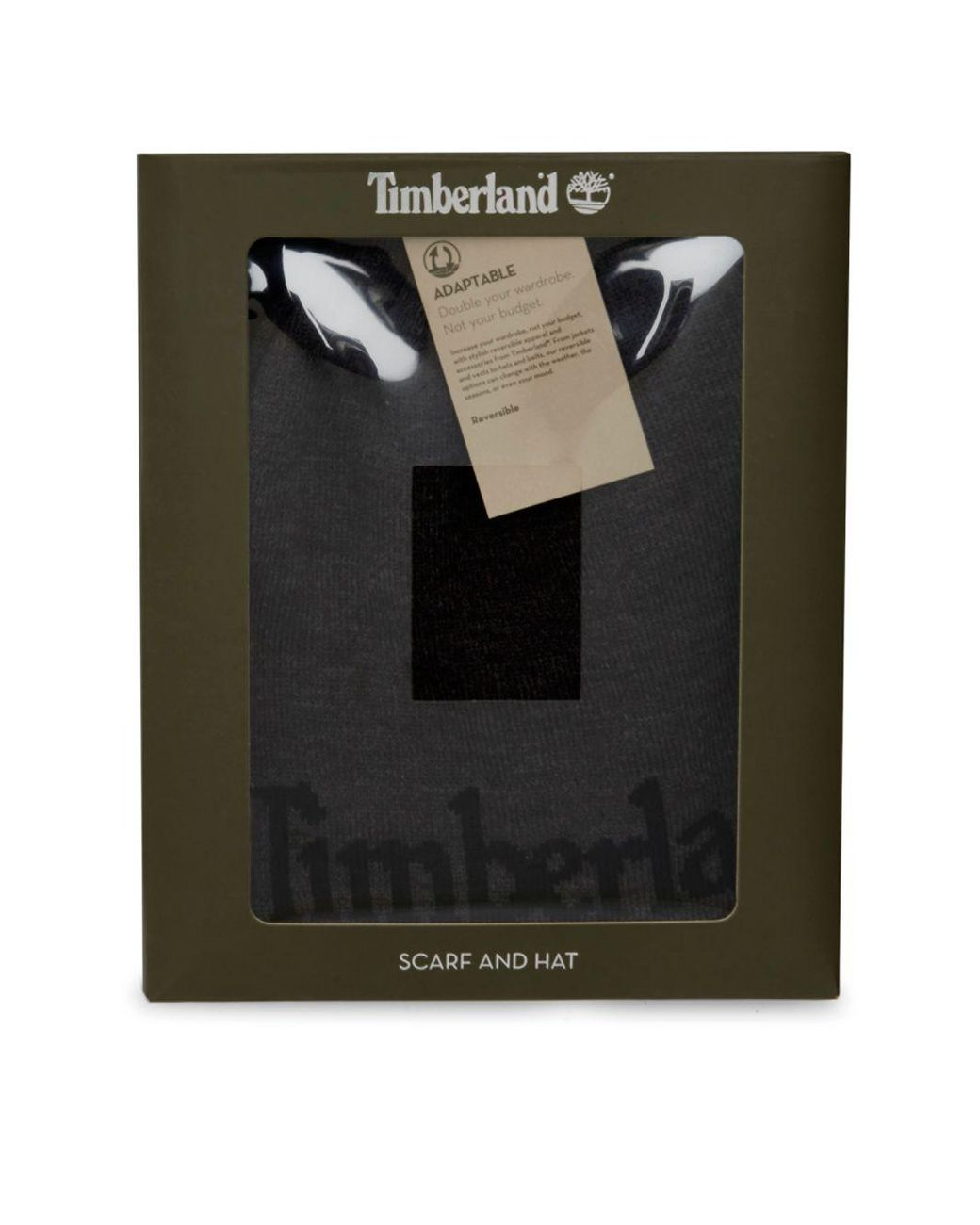 4f280e4576c Timberland Logo Jacquard Hat And Scarf Set in Black for Men - Lyst